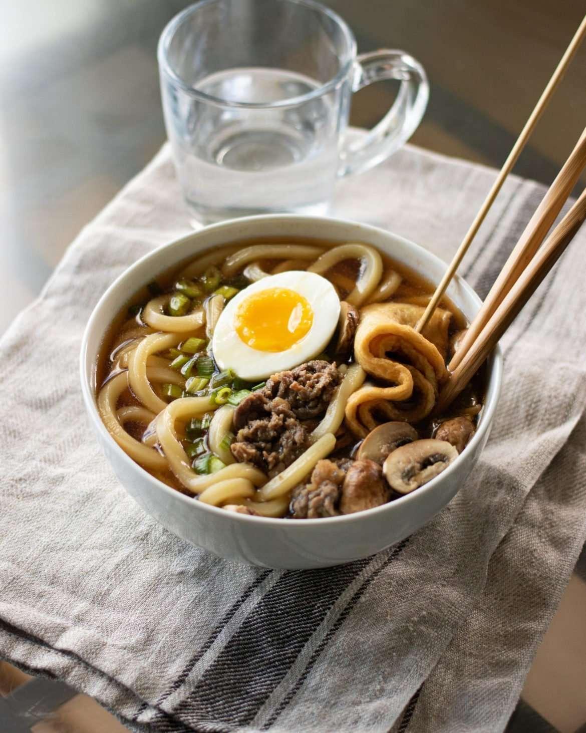 Sukiyaki beef udon