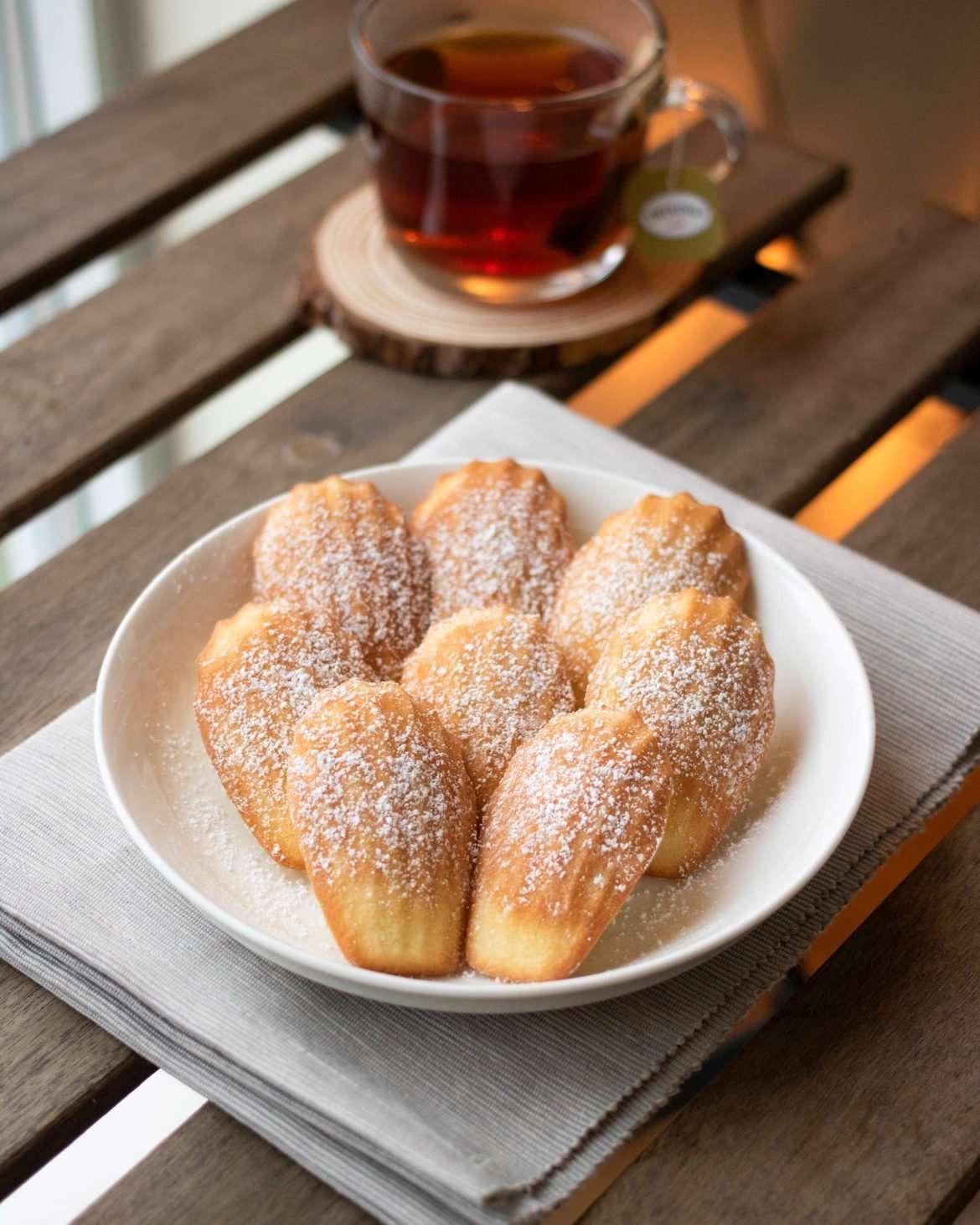 plate of vanilla madeleines