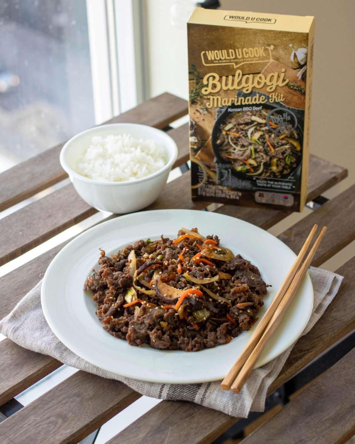 featured image of bulgogi made with woulducook kit