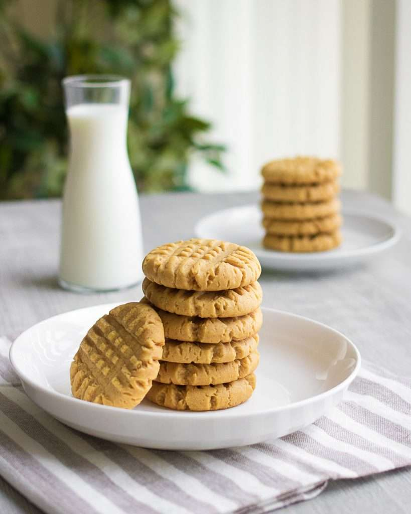 stacked peanut butter cookies