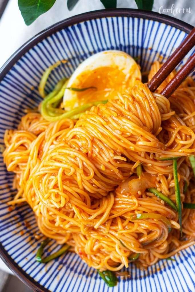 Bibim Guksu (Korean Spicy Cold Noodles)