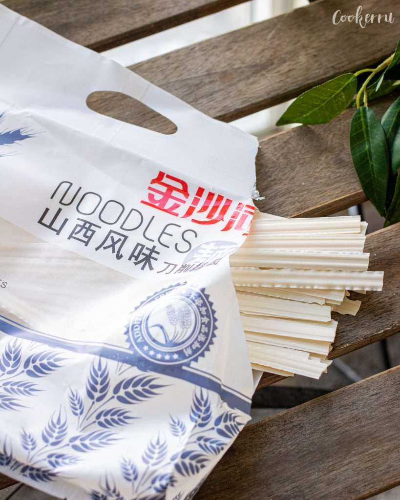 Package of Chinese Wide Noodles