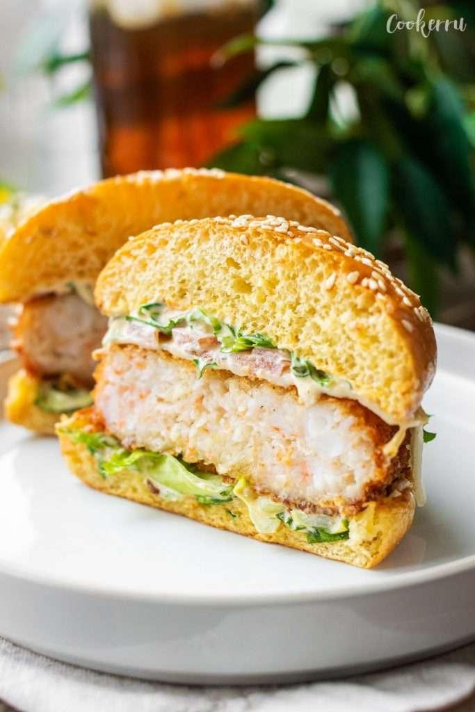 Panko Shrimp Burger