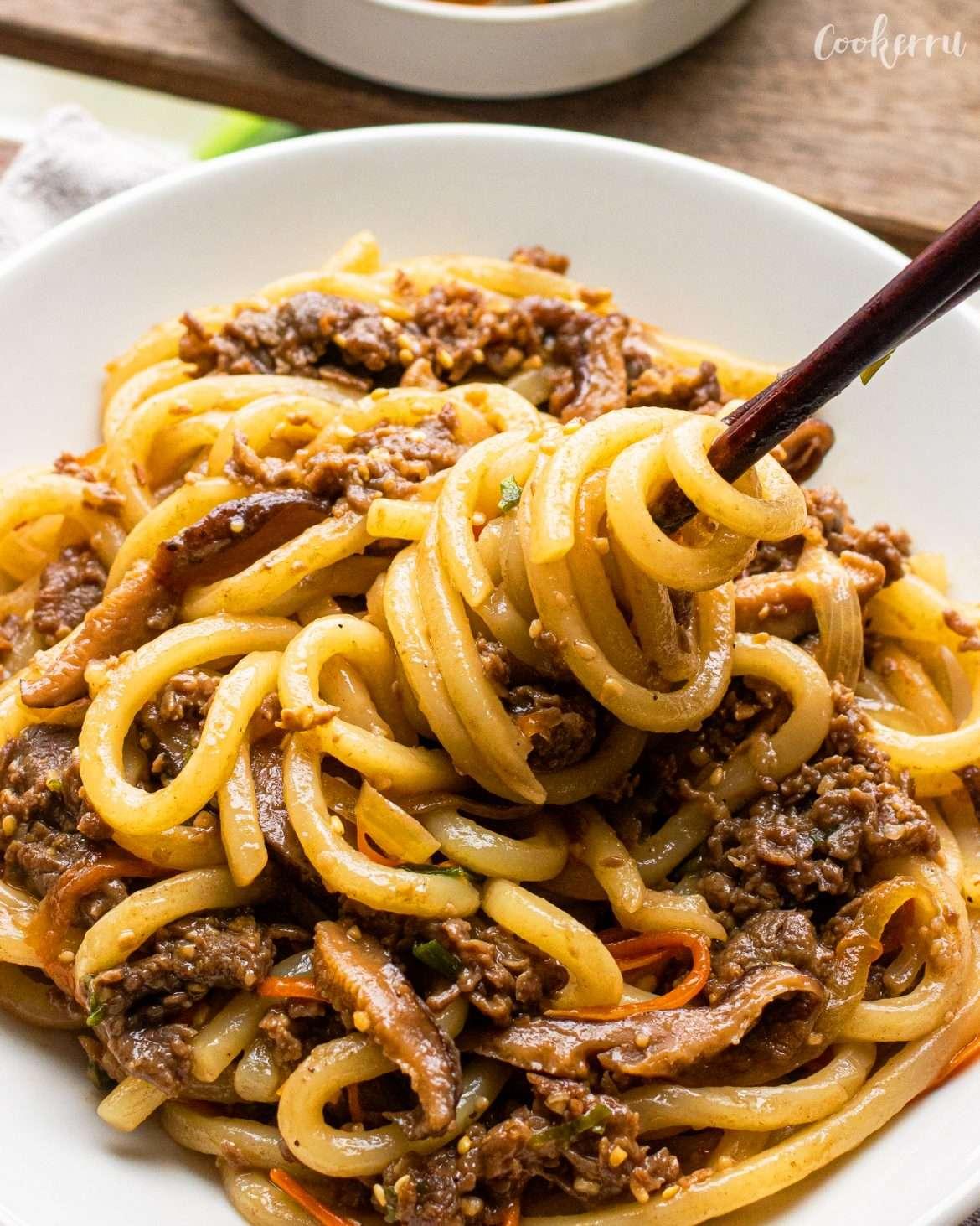 Bulgogi Udon Noodle Stir Fry