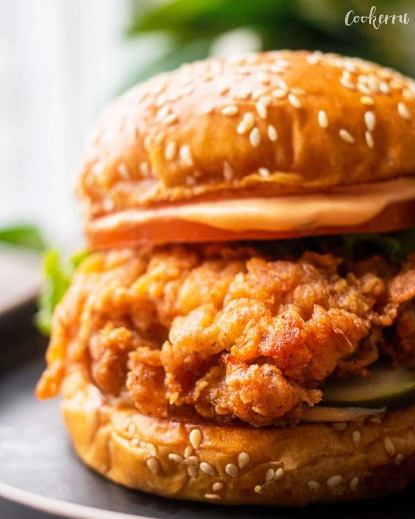 Spicy Buttermilk Fried Chicken SandwichSpicy Buttermilk Fried Chicken Sandwich