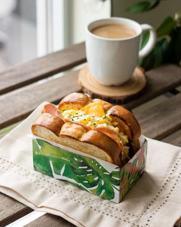Korean Egg Drop Sandwich