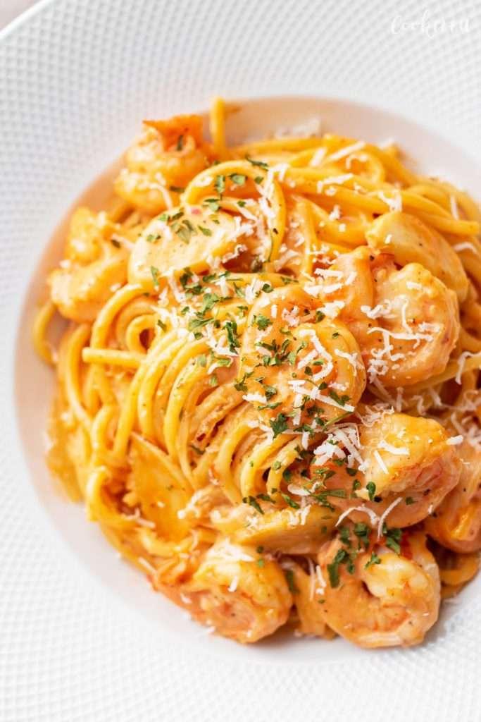 15-Minute Shrimp Rose Pasta
