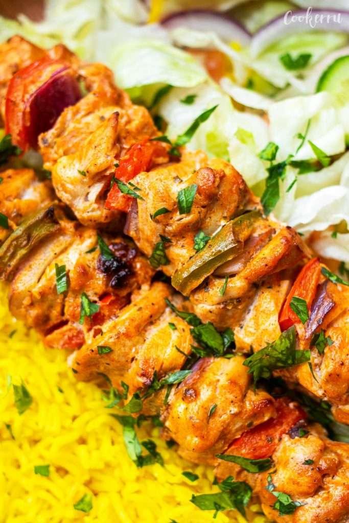 Yogurt-Marinated Chicken Kebabs