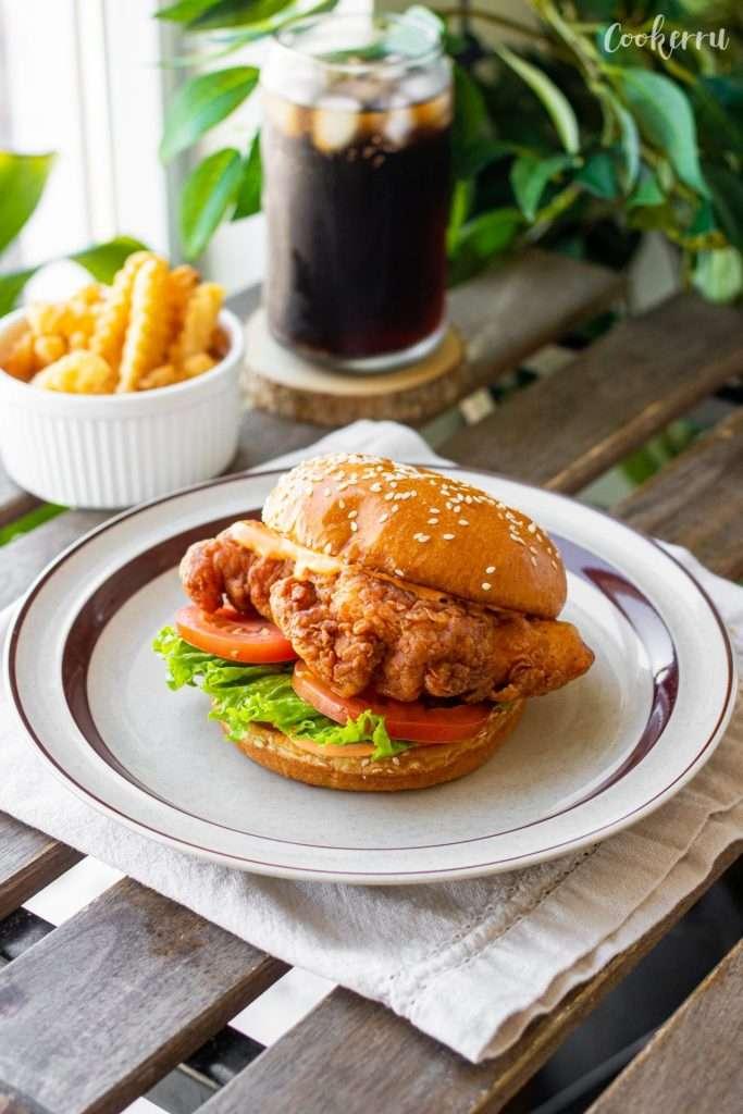 Spicy Buttermilk Fried Chicken Sandwich