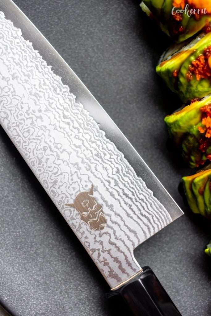 YASHA Roasted Chestnut SANTOKU Knife