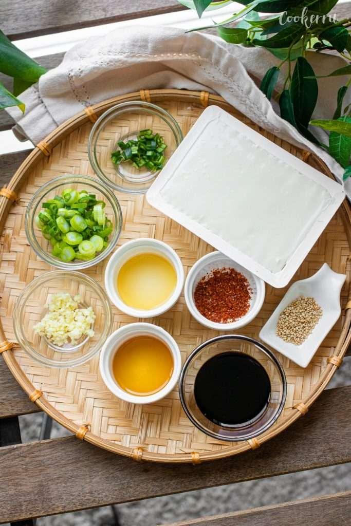 Ingredients for Korean Silken Tofu