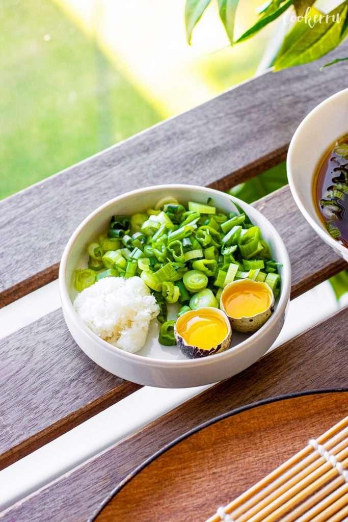 Garnish for Cold Soba Noodles (Zaru Soba)