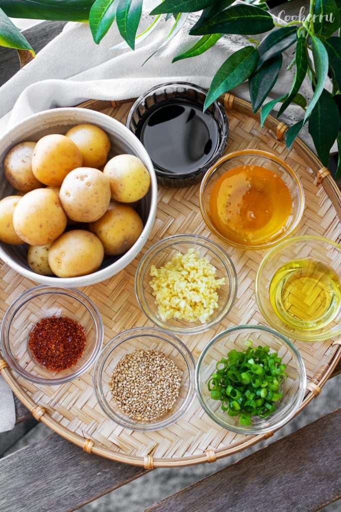 Ingredients for Korean Braised Potatoes (Gamja Jorim)